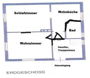 Grundriss EG Whg. Hauptstr. 49